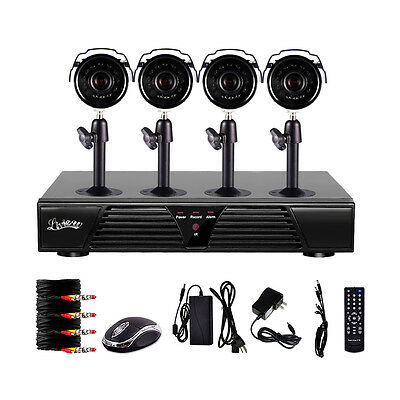 8 Channel DVR 4 Outdoor Waterproof Night Vision Home Security Cameras