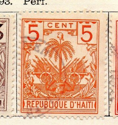 Haiti 1893 Early Issue Fine Used 5c. 154211