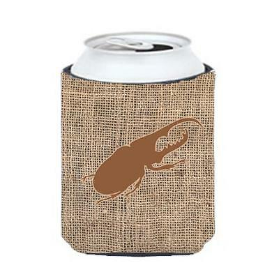 Carolines Treasures BB1056-BL-BN-CC Beetle Burlap And Brown Can Or Bottle Hugger
