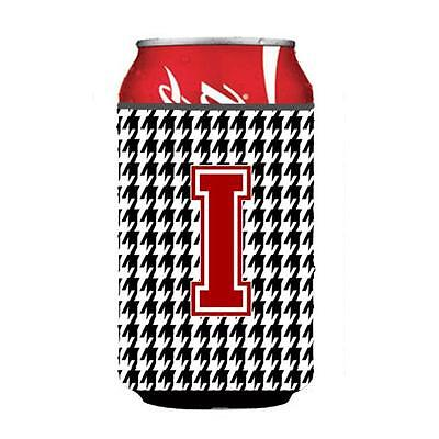 Carolines Treasures CJ1021-ICC Monogram Houndstooth Can Or Bottle Hugger
