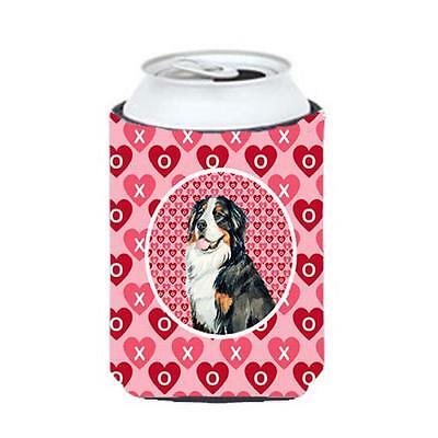 Bernese Mountain Dog Valentines Love And Hearts Can Or bottle sleeve Hugger 1...