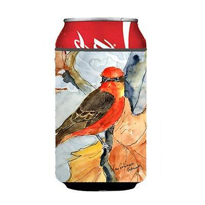 Carolines Treasures Bird Verimillion Flycatcher Can Or Bottle Hugger 12 oz.