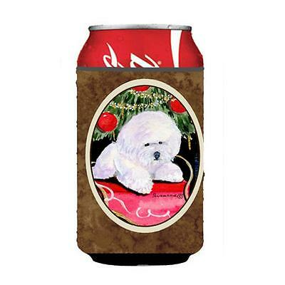 Carolines Treasures Christmas Tree With Bichon Frise Can Or Bottle Hugger 12 oz.