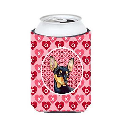 Min Pin Valentines Love And Hearts Can Or bottle sleeve Hugger 12 oz.