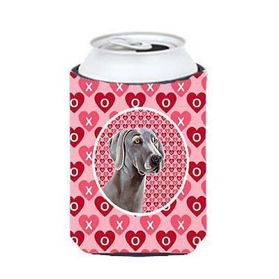 Weimaraner Valentines Love And Hearts Can Or bottle sleeve Hugger 12 oz.