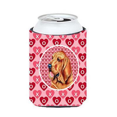 Bloodhound Valentines Love And Hearts Can Or Bottle Hugger 12 oz.