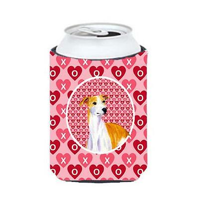 Whippet Valentines Love And Hearts Can Or Bottle Hugger 12 oz.