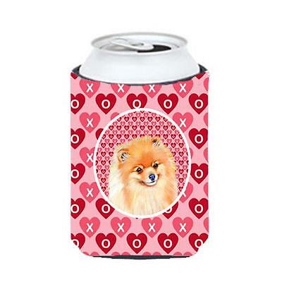 Pomeranian Valentines Love and Hearts Can or bottle sleeve Hugger