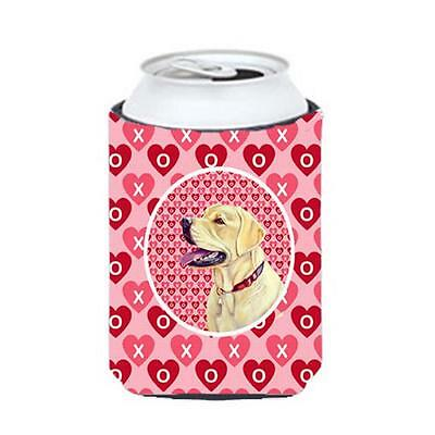 Labrador Valentines Love And Hearts Can Or bottle sleeve Hugger 12 oz.