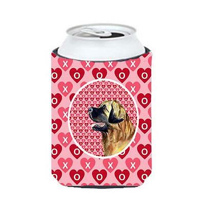 Leonberger Valentines Love and Hearts Can or bottle sleeve Hugger