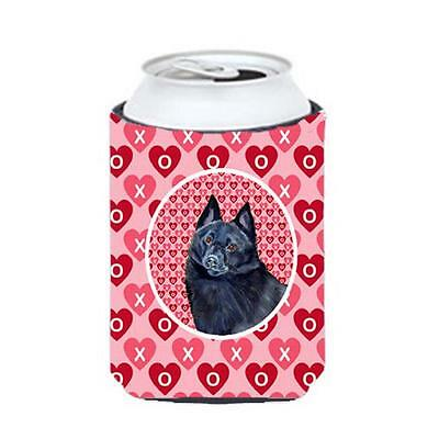Schipperke Valentines Love And Hearts Can Or bottle sleeve Hugger 12 oz.