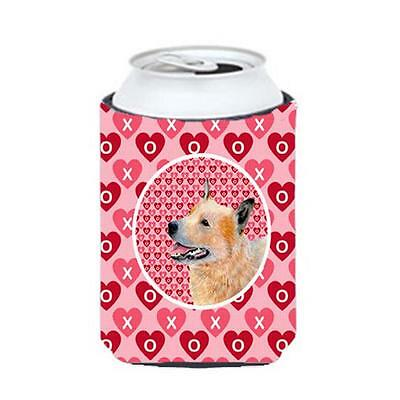 Australian Cattle Dog Valentines Love and Hearts Can or Bottle Hugger