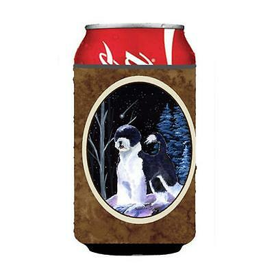 Starry Night Portuguese Water Dog Can Or bottle sleeve Hugger 12 oz.