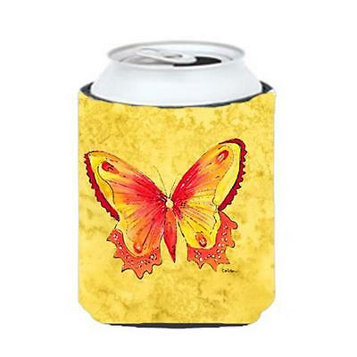 Carolines Treasures Butterfly On Yellow Can Or bottle sleeve Hugger 12 oz. • AUD 45.90