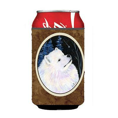 Carolines Treasures Starry Night Samoyed Can Or bottle sleeve Hugger 12 oz.