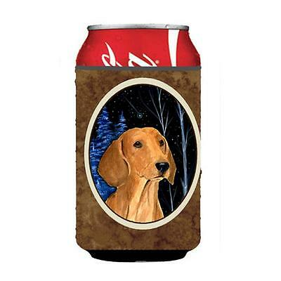 Carolines Treasures SS8379CC Starry Night Dachshund Can Or bottle sleeve Hugger