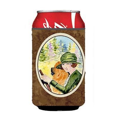 Lady Driving With Her Chow Chow Can Or bottle sleeve Hugger 12 oz. • AUD 45.90