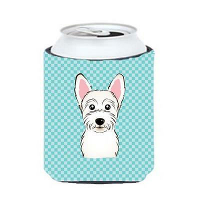Carolines Treasures Checkerboard Blue Westie Can Or Bottle Hugger, 12 Oz.