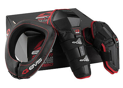 EVS Slam Combo With Option Guards and R2 Race Collar 2014 Black Red