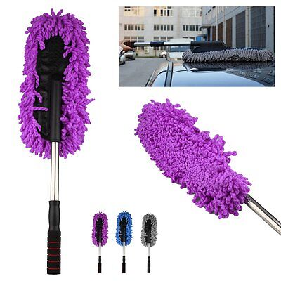 Car Cleaning Wash Brush Dusting Tool Large Microfiber Telescoping Duster New