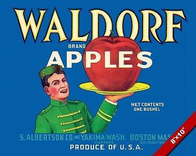 Vintage Red Washington Apples Fruit Ad Poster Painting Art Real Canvas Print