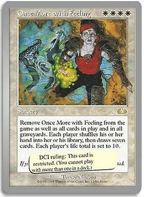 Once More with Feeling MTG MAGIC Ung Unglued English