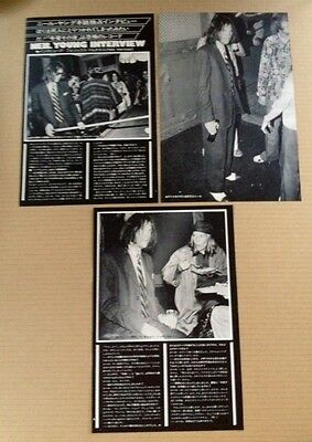 1975 Neil Young Joni Mitchell 4pg 3 photo JAPAN mag article /press clipping n10m