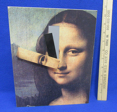 Mona Lisa Clock Metal Hands are Part of Picture Unique Shelf Mantle 1AA Battery