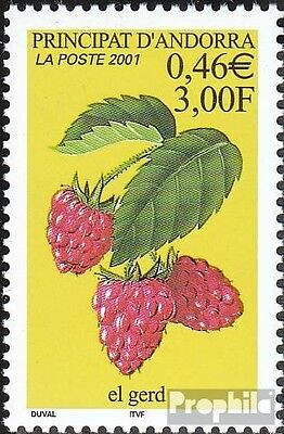 Andorra-French Post 568 mint never hinged mnh 2001 Himbeere