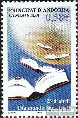 Andorra-French Post 566 mint never hinged mnh 2001 Book