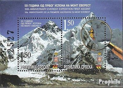 Serbian Republic bos.-h block8 mint never hinged mnh 2003 first ascent Mount eve