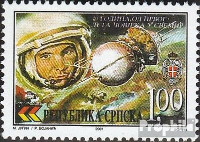 Serbian Republic bos.-h 197 mint never hinged mnh 2001 manned Space flight