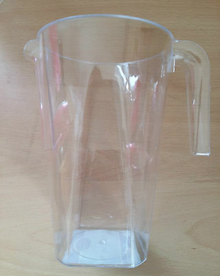 5 Clear Plastic Disposable 1.2L Jug Great Value Jugs Cheap!
