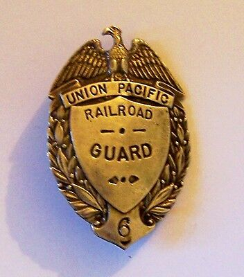 Union Pacific Train Railroad RR Track Yard Guard Office Agent Badge ID Security