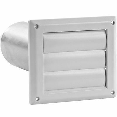 IMPERIAL 4-in Louvered Dryer Vent Hood