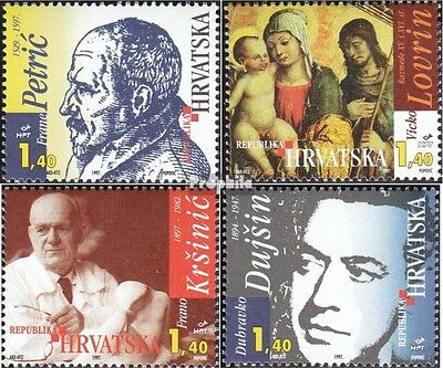 Croatia 430-433 mint never hinged mnh 1997 Significant Personalities