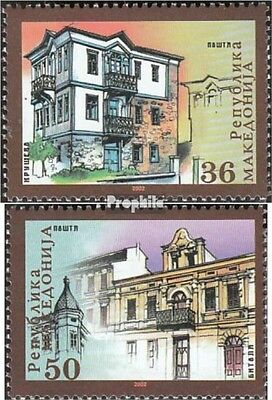 Macedonia 260-261 mint never hinged mnh 2002 Architecture