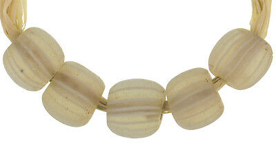 "Old RARE LARGE SIZE "" Gooseberry "" DRAWN VENETIAN GLASS AFRICAN TRADE BEADS"