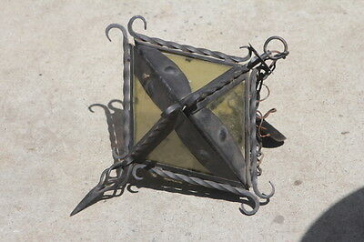 Wrought Iron Hanging LAMP very ornate chandelier