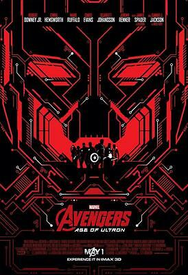 "Avengers: Age Of Ultron ORIGINAL S/S 13""x19"" IMAX Movie Poster ""Red"""