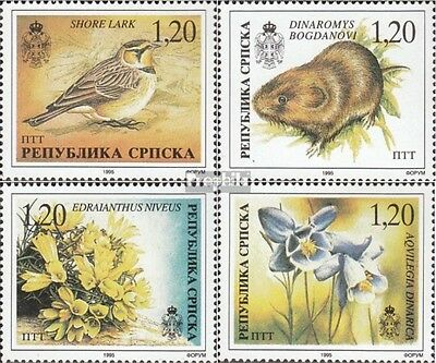 Serbian Republic bos.-h 39-42 mint never hinged mnh 1996 Flora and Flora