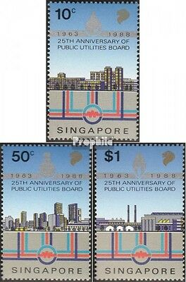 Singapore 557-559 mint never hinged mnh 1988 Energy- and water