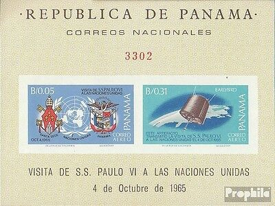 Panama Block46B mint never hinged mnh 1966 Visit of Pope Paul VI.