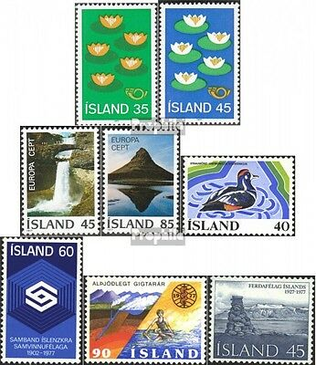 Iceland 520-527 mint never hinged mnh 1977 Complete Volume