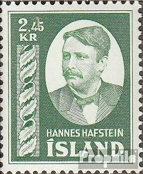 Iceland 294 mint never hinged mnh 1954 Hannes Hafstein