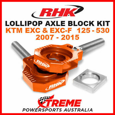 Rhk Lollipop Axle Block Orange Ktm Exc F 125 200 250 300 350 450 500 530 07-2015