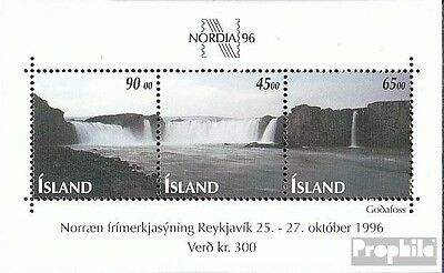 Iceland block19 mint never hinged mnh 1996 Stamp Exhibition