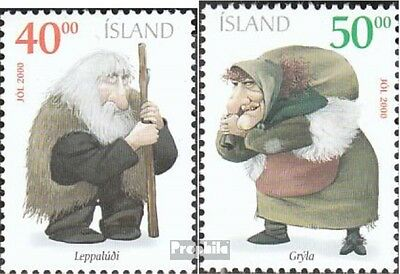 Iceland 967A-968A mint never hinged mnh 2000 christmas