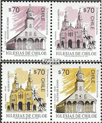 Chile 1542A-1545A Couples mint never hinged mnh 1993 clear brands: Churches