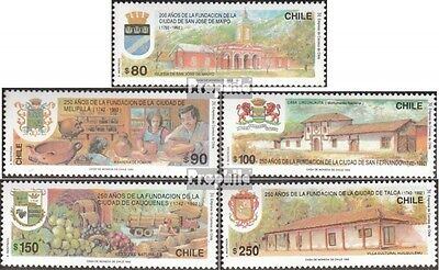 Chile 1495-1499 mint never hinged mnh 1992 Chilenische Cities